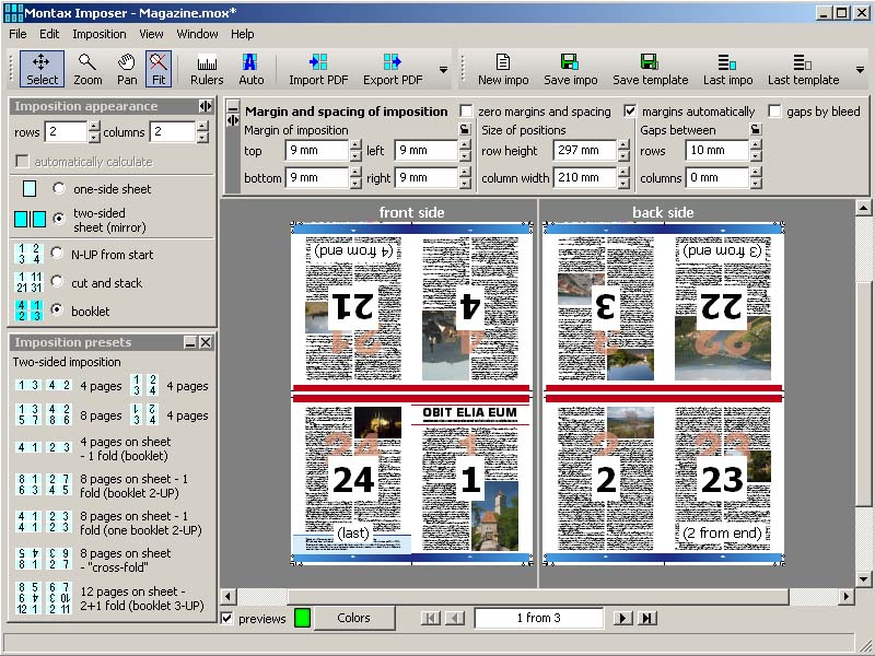 Click to view Montax imposer Standard screenshots